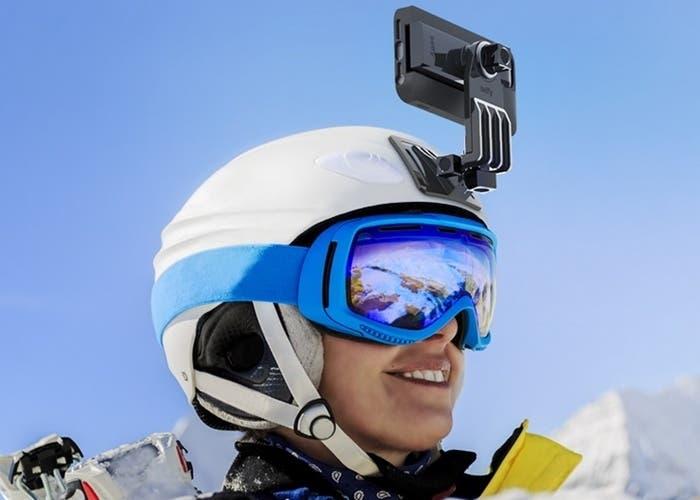 soporte casco iPhone