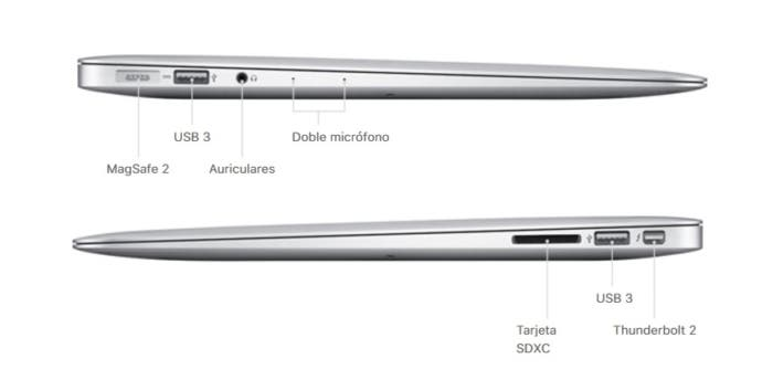 puertos macbook air