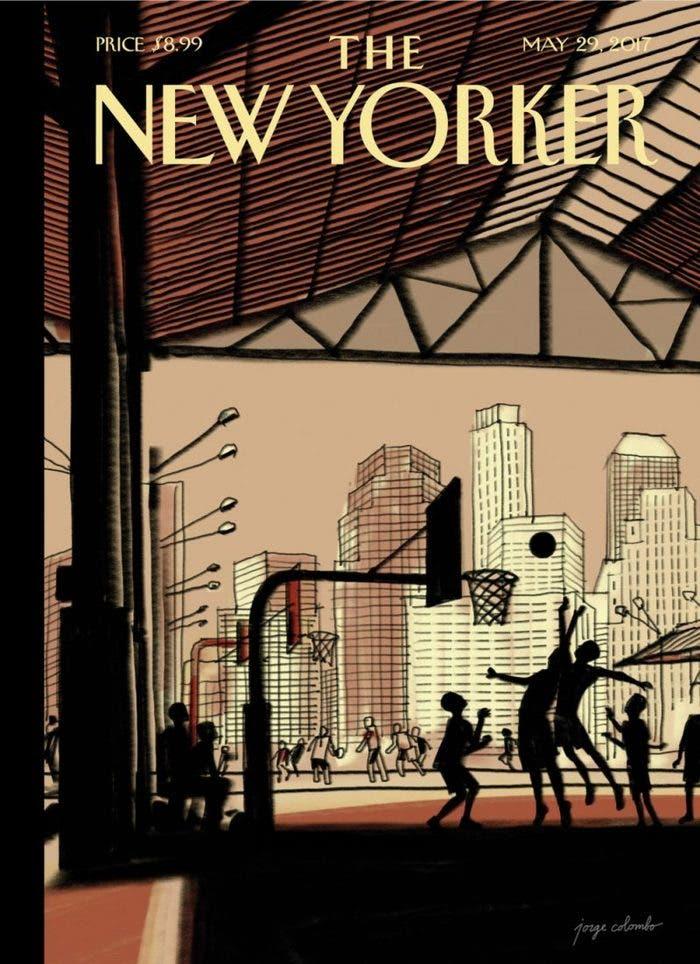 New Yorker portada con iPad