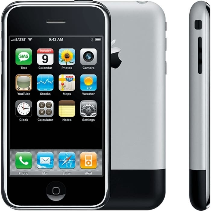 Imagen promocional del primer iPhone