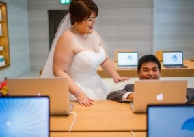 fotos boda apple store