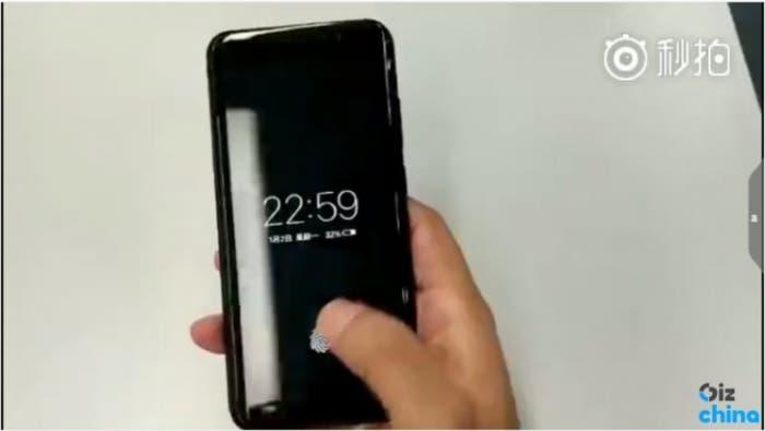 filtración primer móvil con lector huellas en pantalla