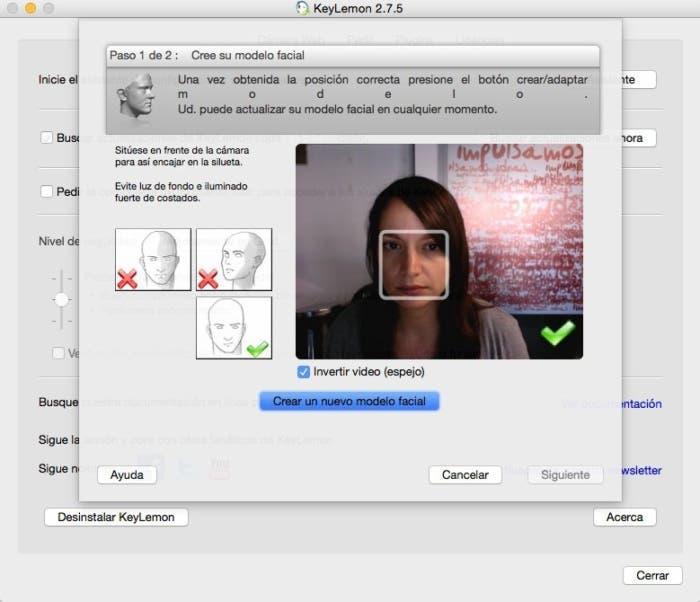 Reconocimiento facial mac