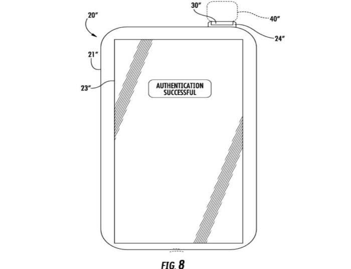 patente touch id en boton encendido