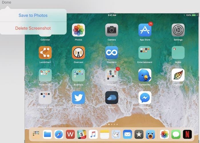 Capturas de Pantalla en el iPad con iOS 11