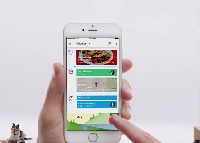 Google Calendar widget para iOS