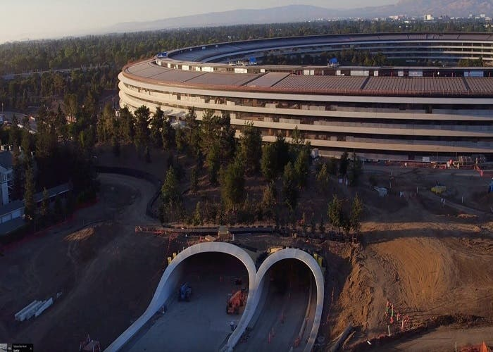 As ser a el interior del steve jobs theater for Oficinas de apple