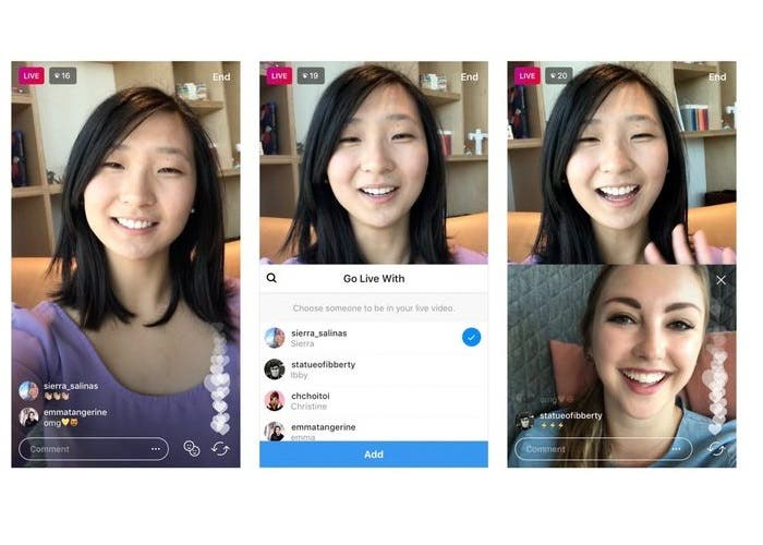 Compartir videos en directo de Instagram con amigos