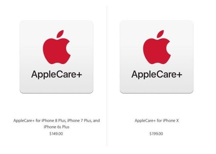 Precios del AppleCare para el iPhone X