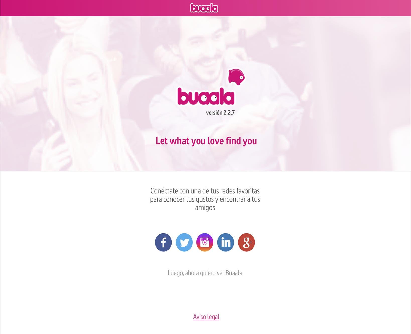 Nuevo diseño Buaala
