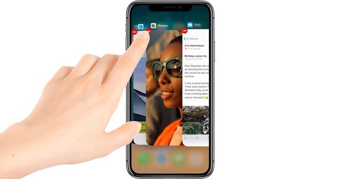 Close apps on iOS 11