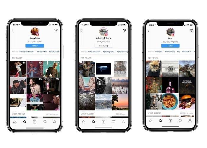 Seguir hashtags en Instagram