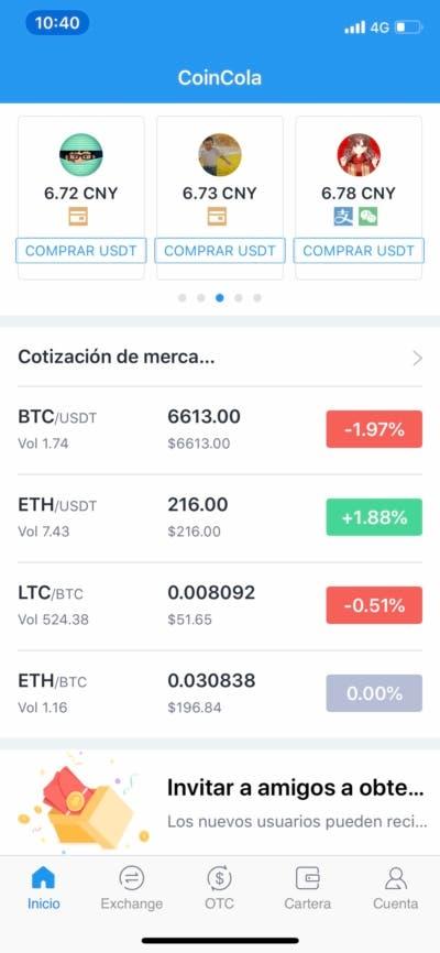 Opera con criptomonedas y haz trading con CoinCola