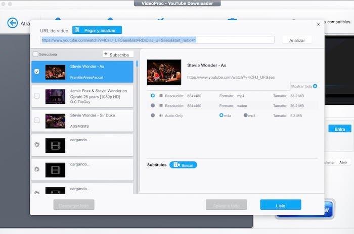 videoproc pantalla inicio