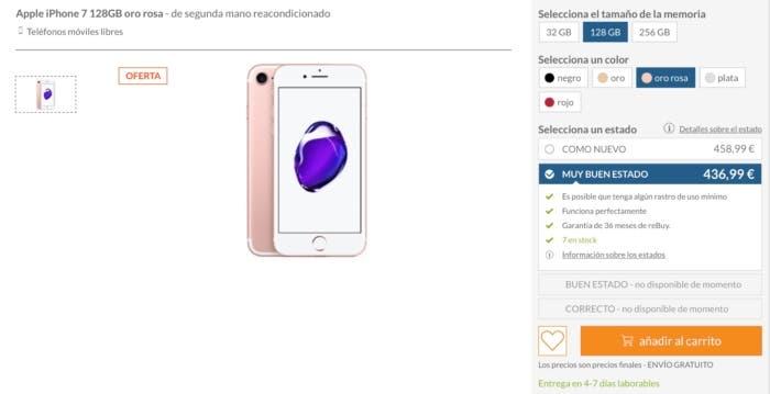 Comprar iPhone al mejor precio de segunda mano