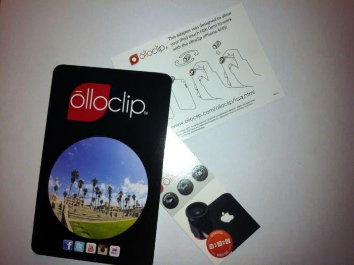 Manuales que vienen con Olloclip