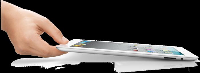 iPad 2 acostado