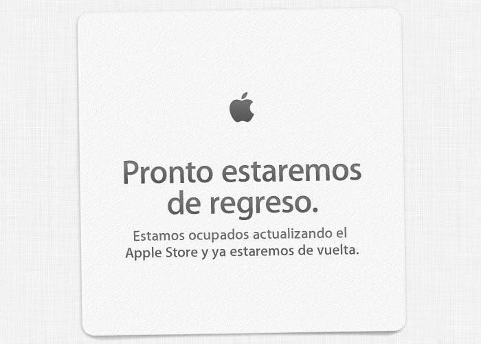 Banner de la Apple Store cerrada