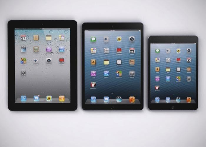 Comparación de supuesto iPad 5 con anteriores generaciones
