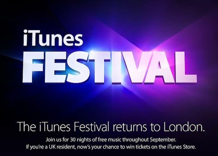 Se ha anunciado el iTunes Festival 2013 que tendrá lugar en Londres