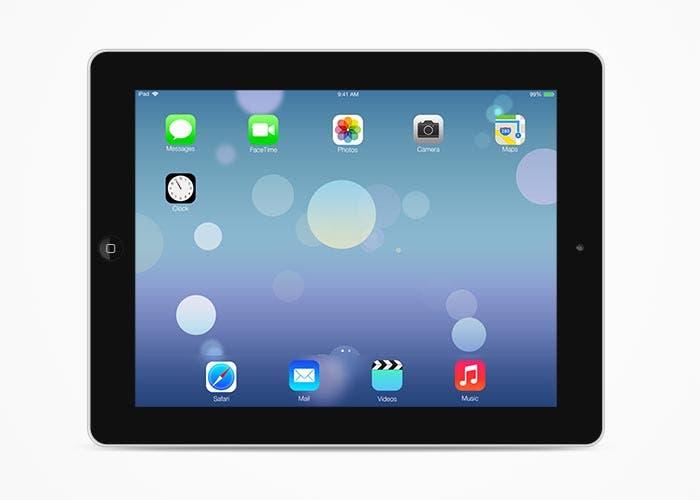 Captura de iOS 7 en el iPad