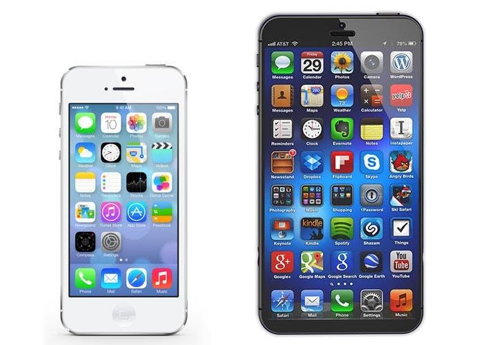 Pantalla grande en un iPhone 5