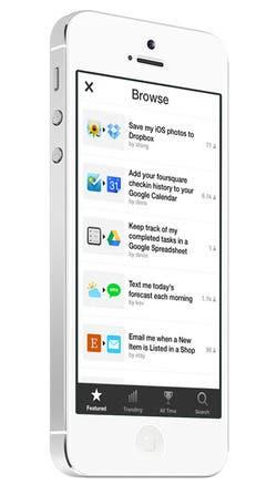 Funcionamiento de IFTTT para iOS