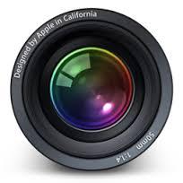Logo del software fotográfico Aperture