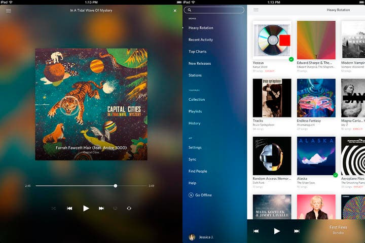 Capturas de la nueva versión de Rdio para iOS