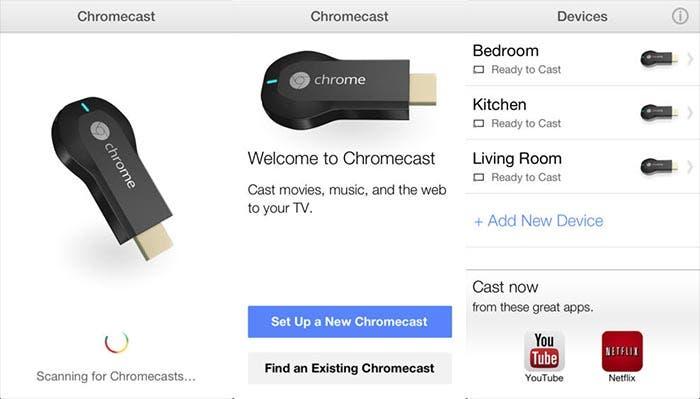 Capturas de pantalla de Chromecast