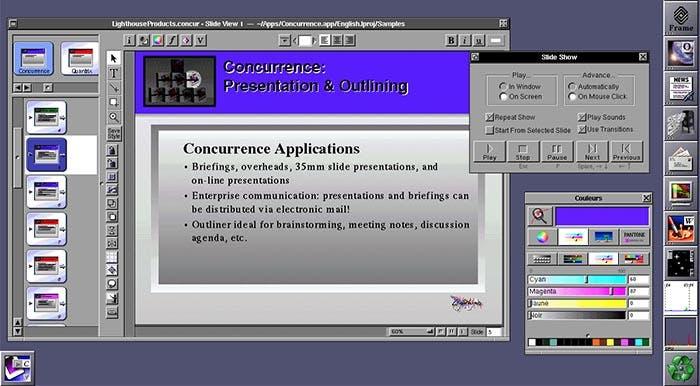Aplicación Concurrence para NeXTSTEP