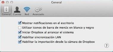 Importación de la cámara en Dropbox