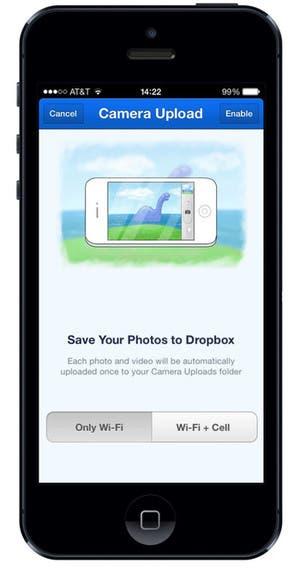 Subida Instantánea Dropbox for iOS