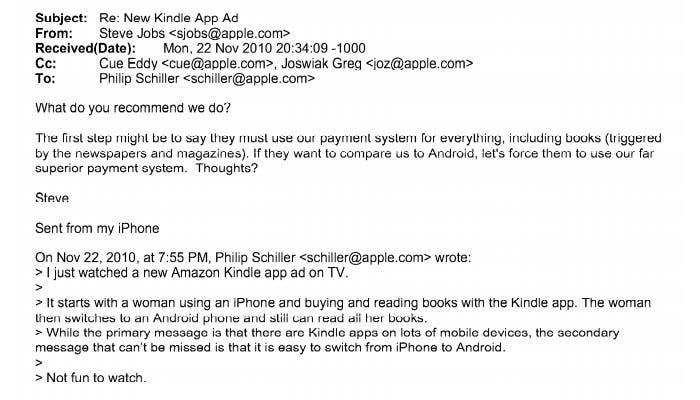 Email de Steve Jobs