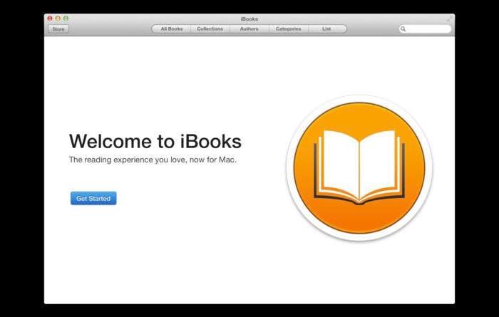 Captura de iBooks en OS X 10.9
