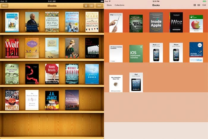 Comparación de iBooks