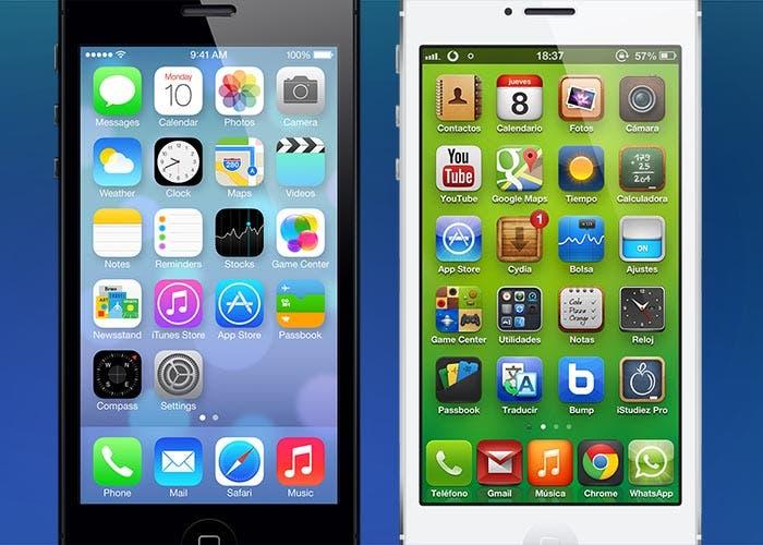 iOS 7 y iOS 6