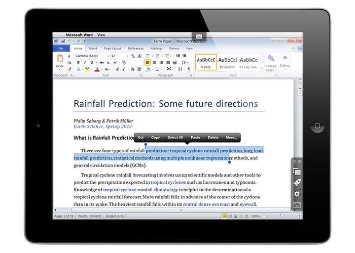 Aplicación para iPad de Parallels