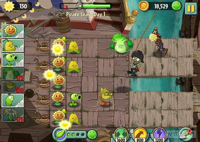 Captura de Plantas Contra Zombis 2