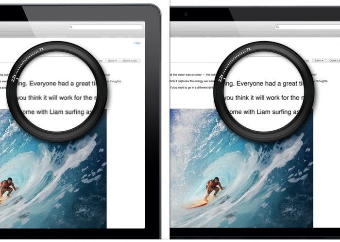 Comparativa entre pantallas alta resolución y resolución normal