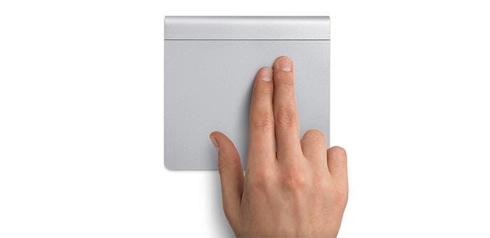 Haciendo scroll en el Magic Trackpad