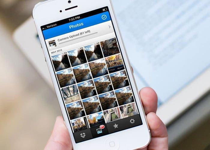 Uso de la subida de fotografías a Dropbox