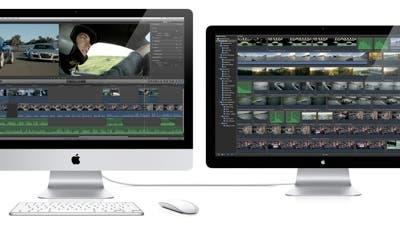 Final Cut Pro X con pantalla externa