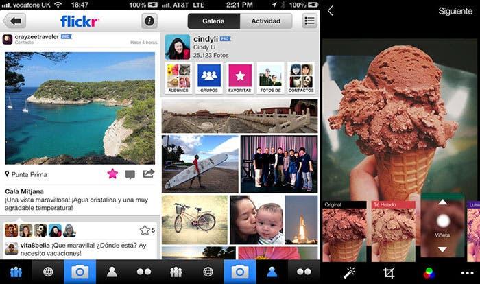 Capturas de Flickr para iOS