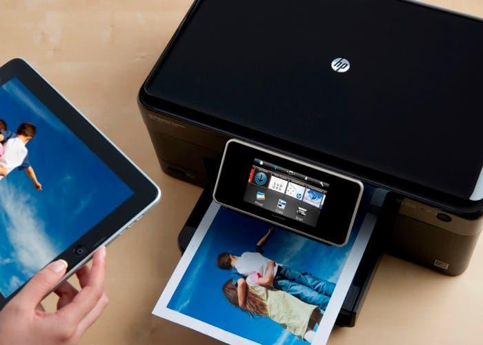 Impresora HP imprimiendo desde un iPad