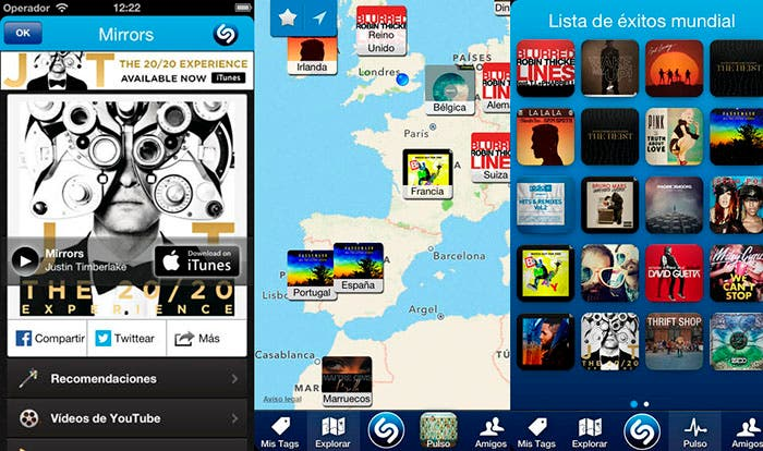 Captura de Shazam para iOS
