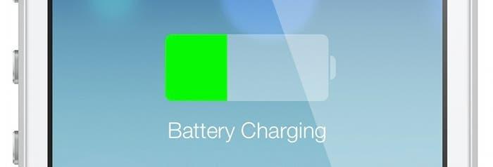Batería cargándose en iOS 7