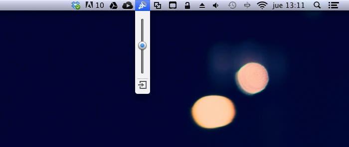 Ajustar el volumen con Boom para OS X