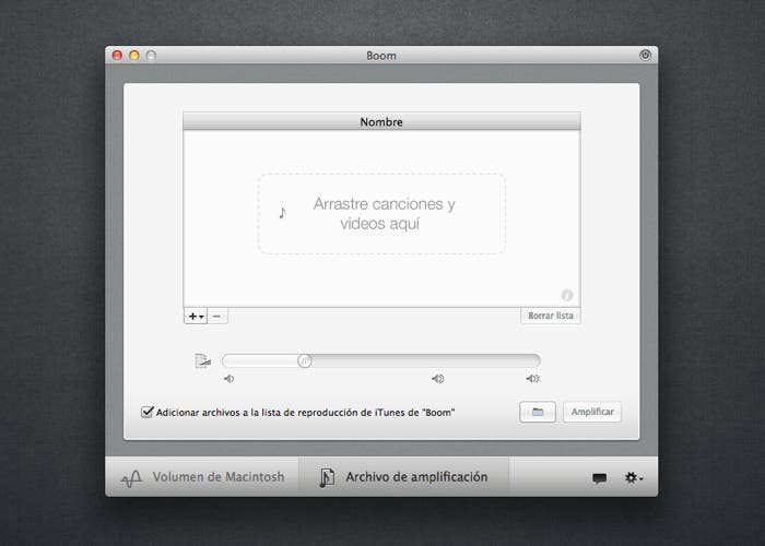 Conversor de archivos en Boom para OS X
