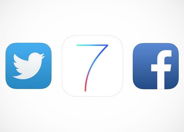 Facebook y Twitter, ya listos para iOS 7